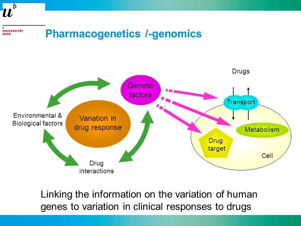 Pharmacogenetics /-genomics
