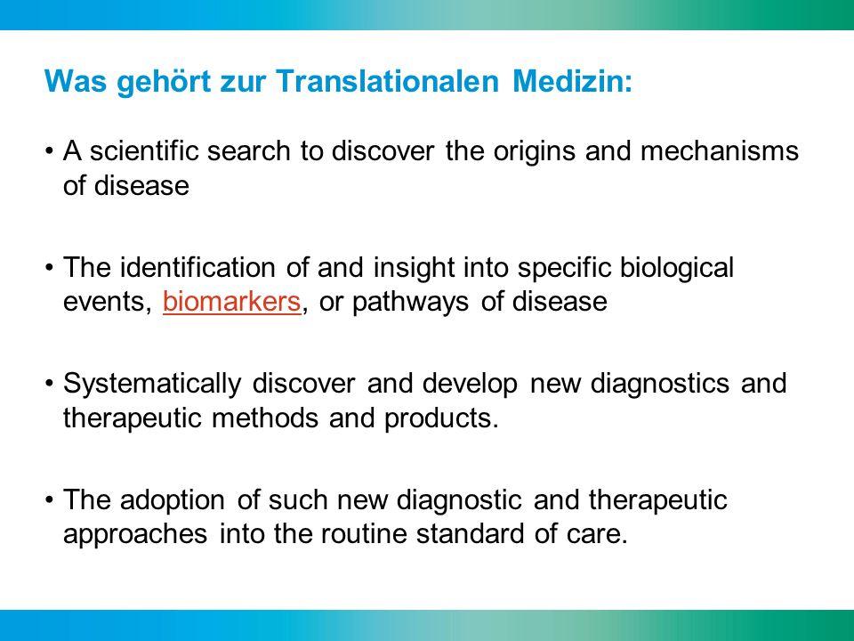 Was gehört zur Translationalen Medizin: