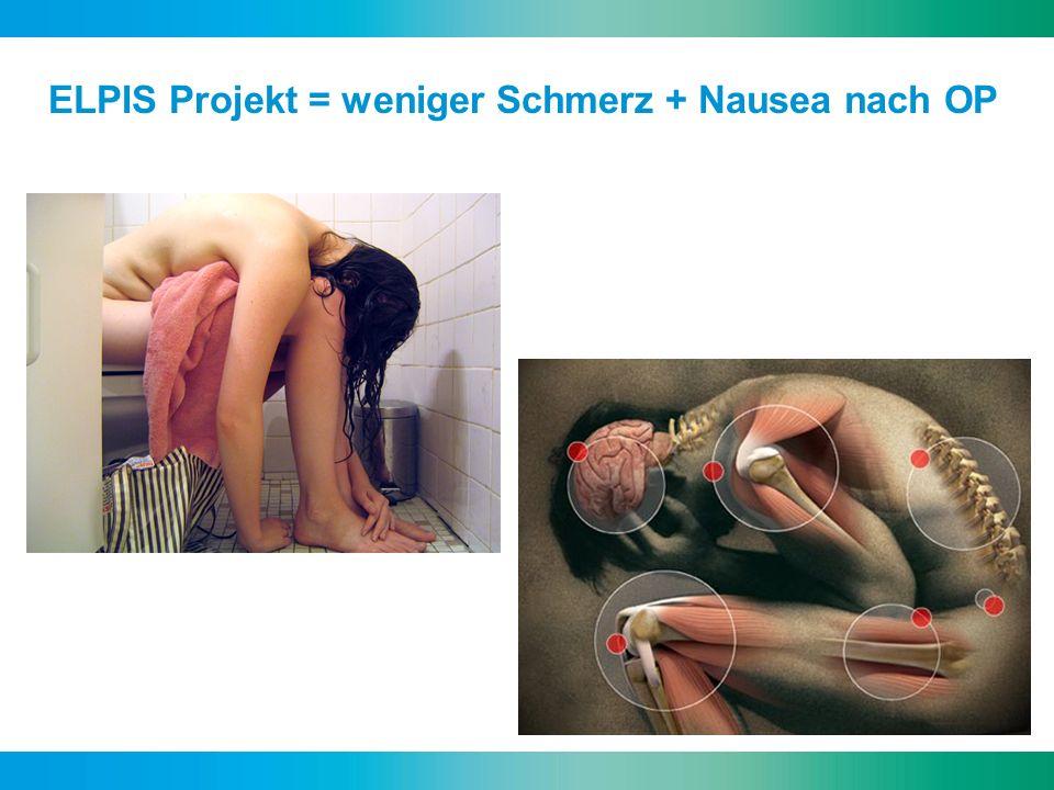 ELPIS Projekt = weniger Schmerz + Nausea nach OP