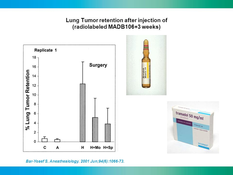 Lung Tumor retention after injection of (radiolabeled MADB106+3 weeks)