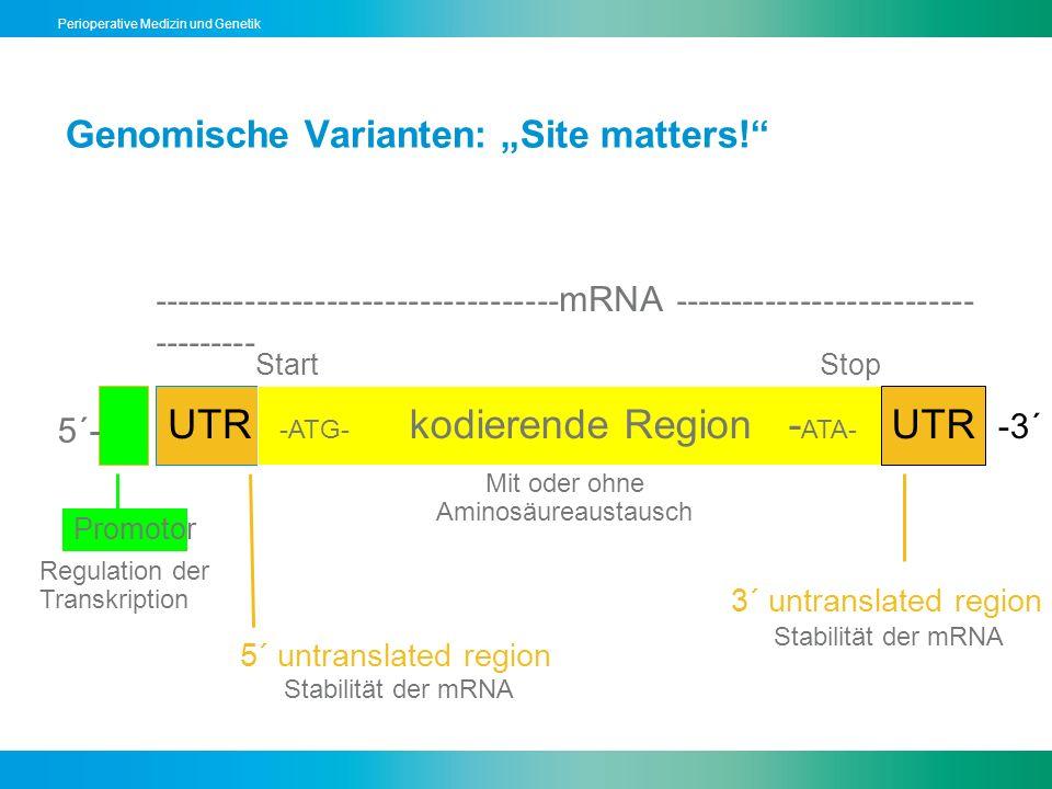 """Genomische Varianten: """"Site matters!"""