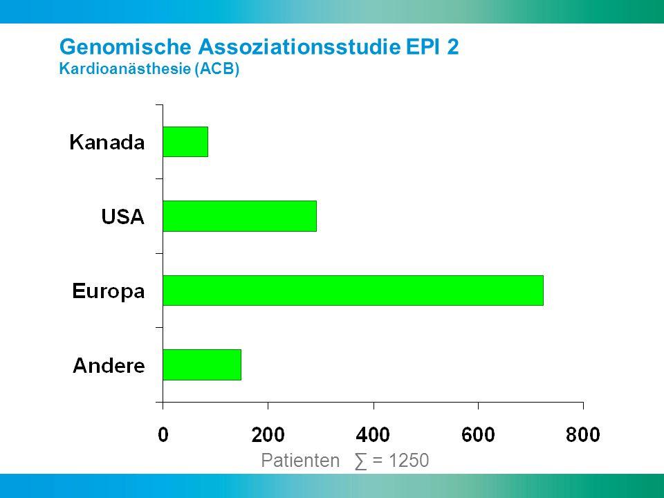Genomische Assoziationsstudie EPI 2 Kardioanästhesie (ACB)