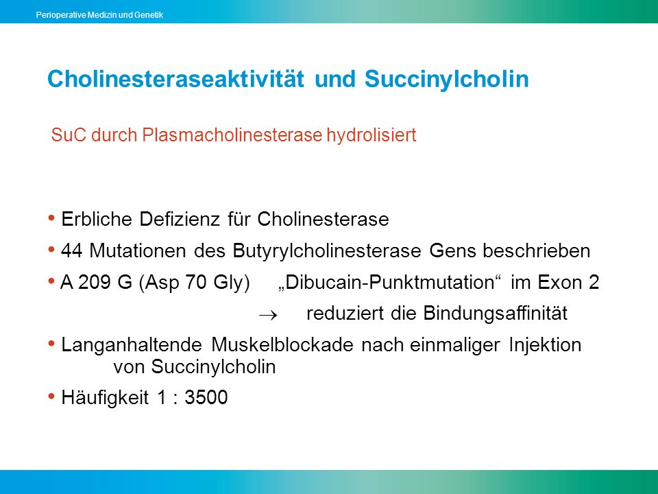 Cholinesteraseaktivität und Succinylcholin