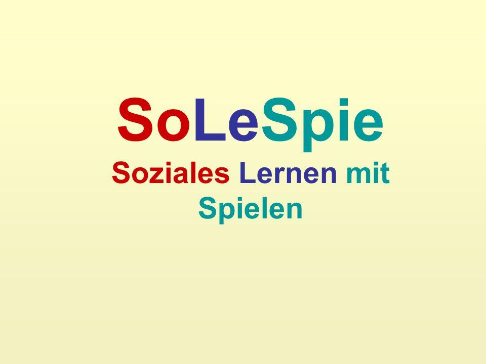 SoLeSpie Soziales Lernen mit Spielen