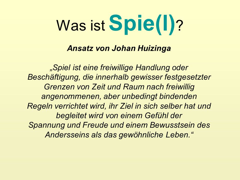 Ansatz von Johan Huizinga