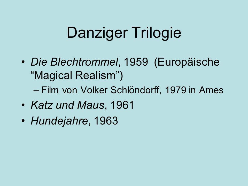 Danziger Trilogie Die Blechtrommel, 1959 (Europäische Magical Realism ) Film von Volker Schlöndorff, 1979 in Ames.