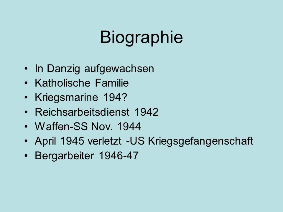 Biographie In Danzig aufgewachsen Katholische Familie