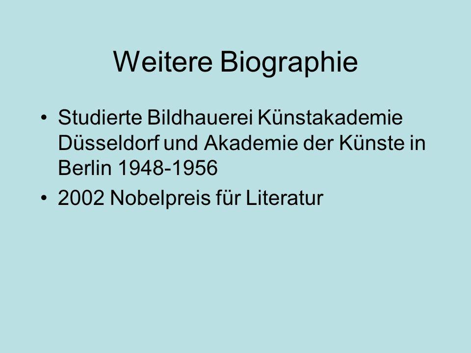 Weitere Biographie Studierte Bildhauerei Künstakademie Düsseldorf und Akademie der Künste in Berlin 1948-1956.