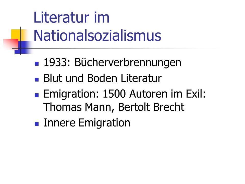 Literatur im Nationalsozialismus