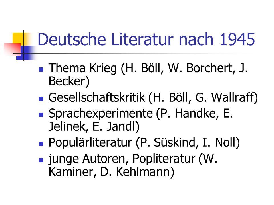 Deutsche Literatur nach 1945