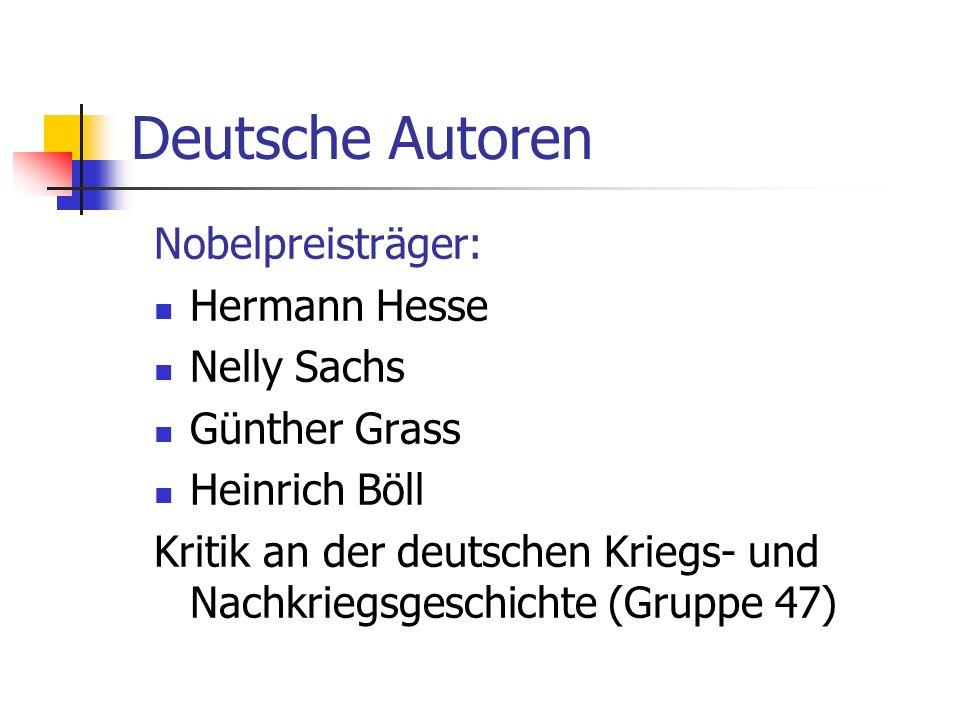 Deutsche Autoren Nobelpreisträger: Hermann Hesse Nelly Sachs