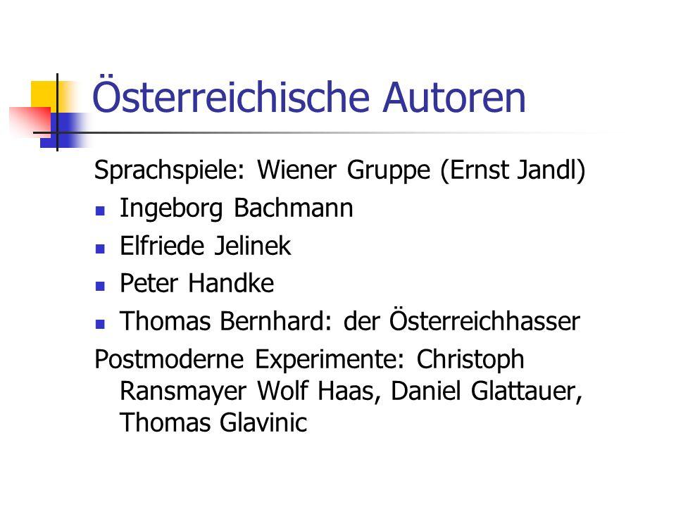 Österreichische Autoren