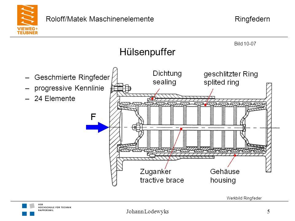Hülsenpuffer Geschmierte Ringfeder progressive Kennlinie 24 Elemente