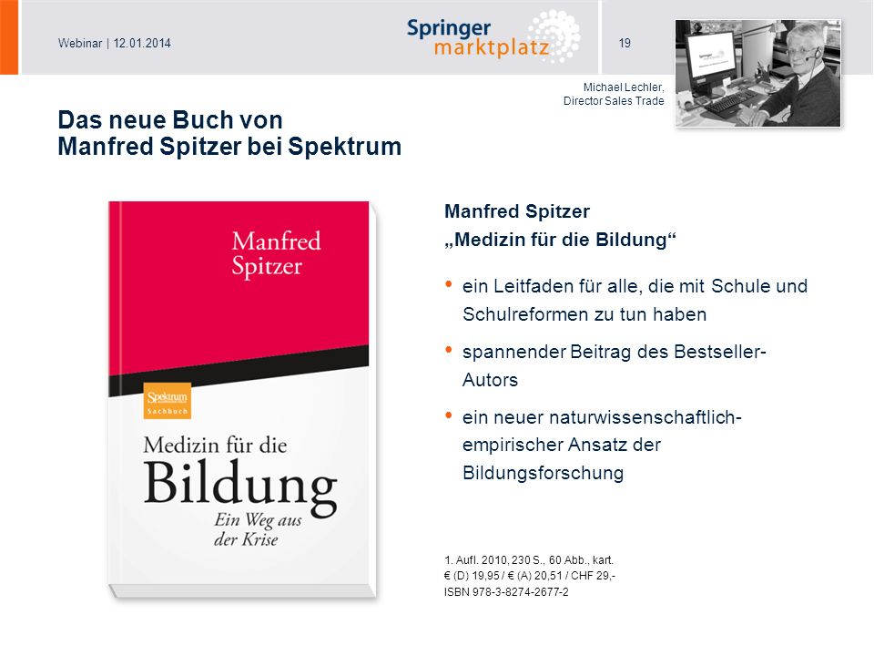 Das neue Buch von Manfred Spitzer bei Spektrum