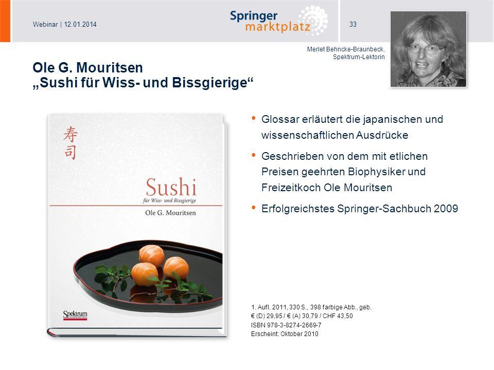 """Ole G. Mouritsen """"Sushi für Wiss- und Bissgierige"""