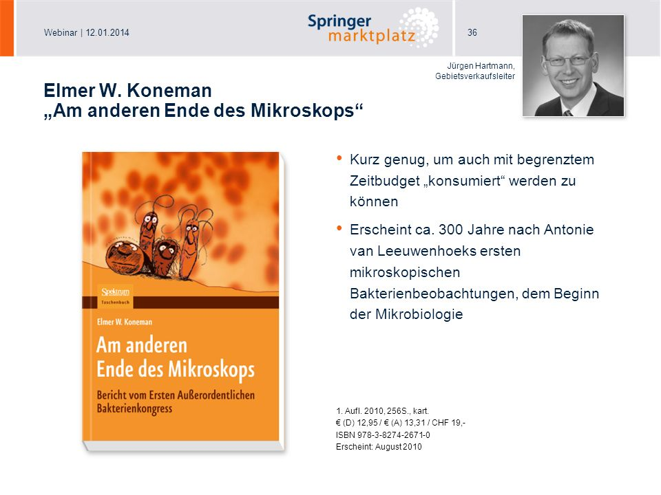 "Elmer W. Koneman ""Am anderen Ende des Mikroskops"