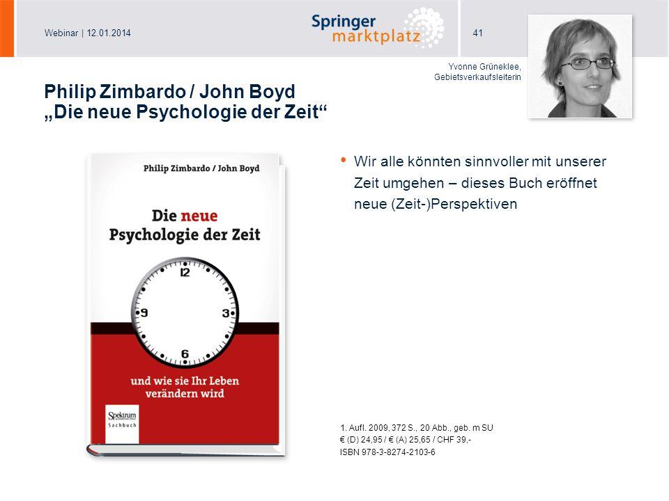 """Philip Zimbardo / John Boyd """"Die neue Psychologie der Zeit"""