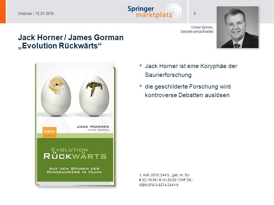 """Jack Horner / James Gorman """"Evolution Rückwärts"""