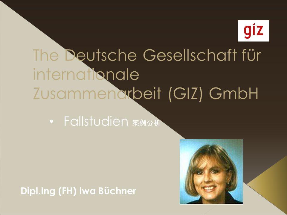 The Deutsche Gesellschaft für internationale Zusammenarbeit (GIZ) GmbH