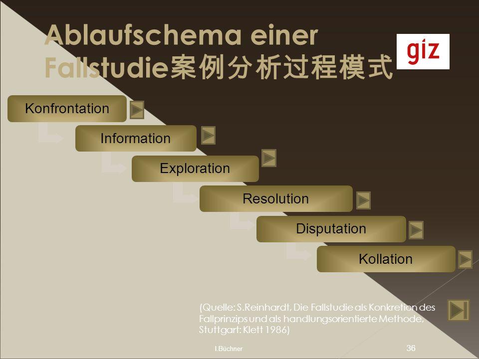 Ablaufschema einer Fallstudie案例分析过程模式
