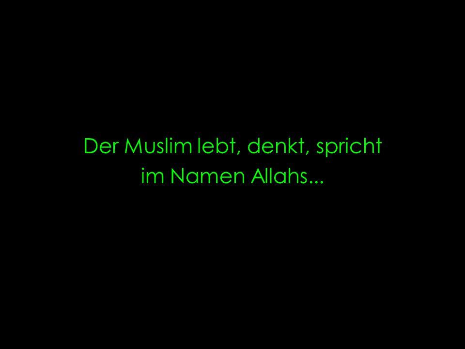 Der Muslim lebt, denkt, spricht