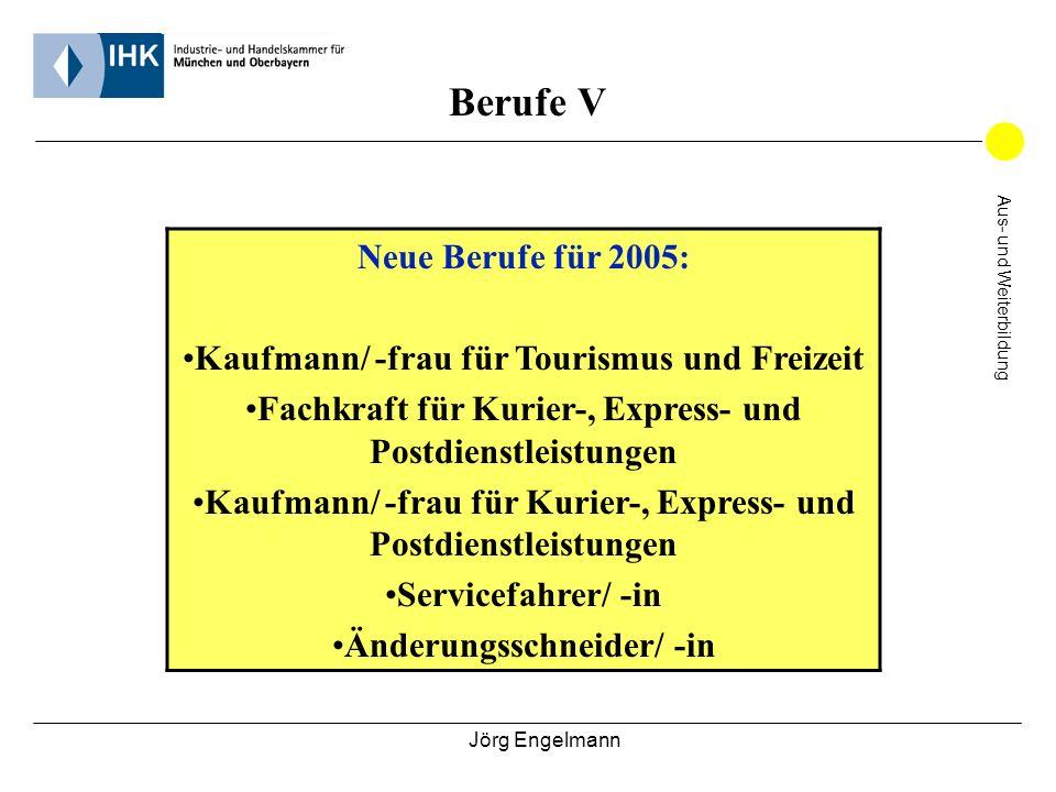 Berufe V Neue Berufe für 2005: