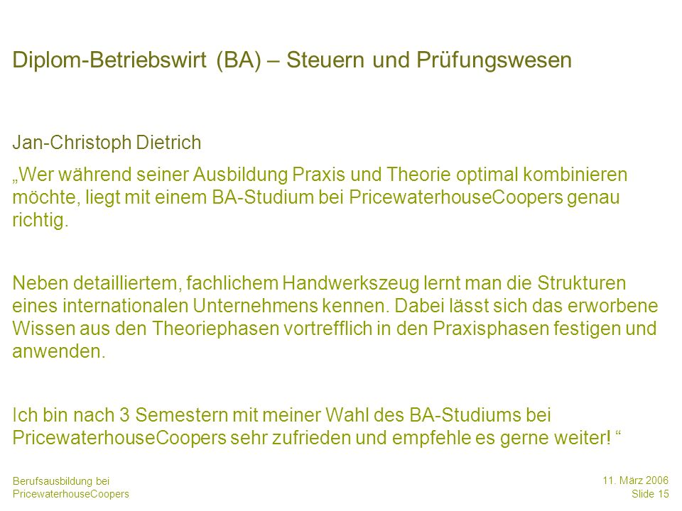 Diplom-Betriebswirt (BA) – Steuern und Prüfungswesen
