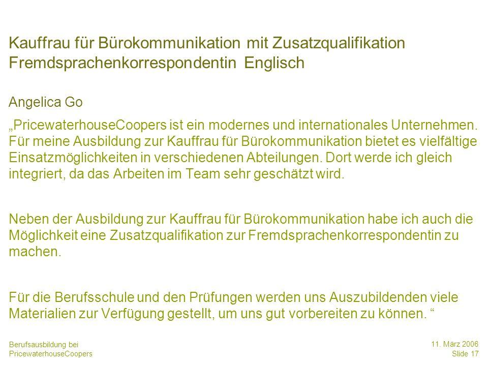 Date Kauffrau für Bürokommunikation mit Zusatzqualifikation Fremdsprachenkorrespondentin Englisch. Angelica Go.
