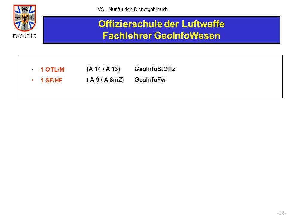 Offizierschule der Luftwaffe Fachlehrer GeoInfoWesen