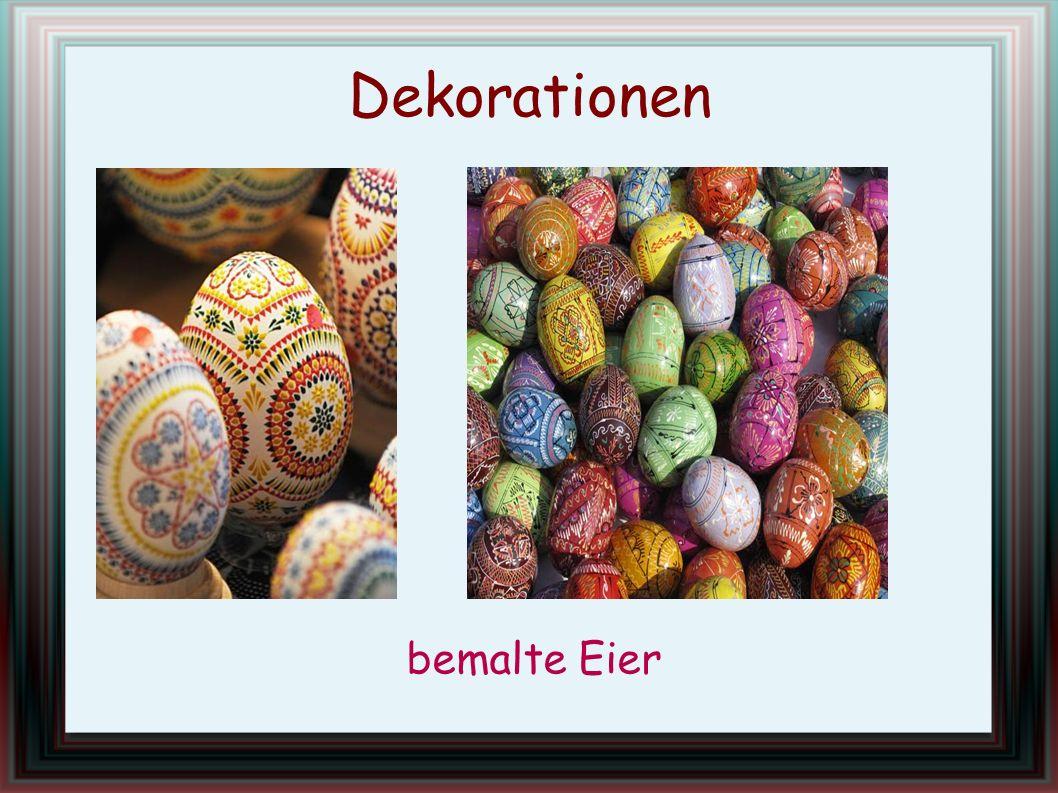 Dekorationen bemalte Eier