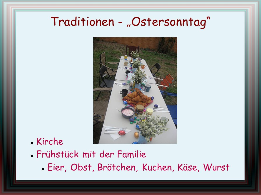 "Traditionen - ""Ostersonntag"