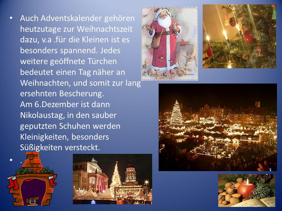Auch Adventskalender gehören heutzutage zur Weihnachtszeit dazu, v. a