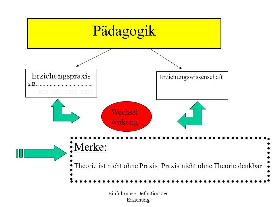 Einführung - Definition der Erziehung