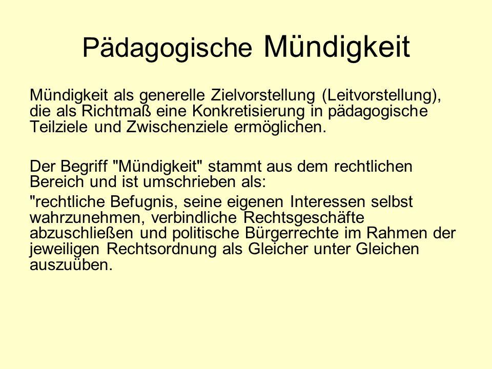 Pädagogische Mündigkeit