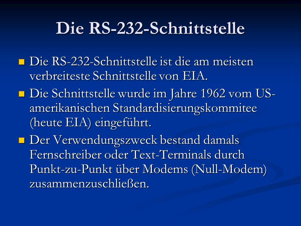 Die RS-232-Schnittstelle