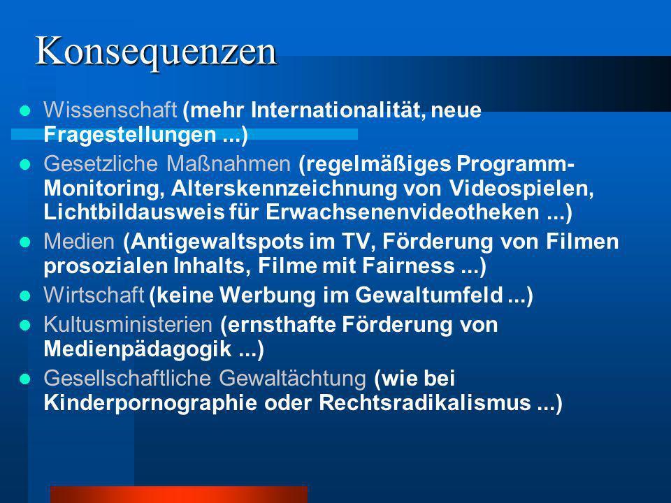 KonsequenzenWissenschaft (mehr Internationalität, neue Fragestellungen ...)