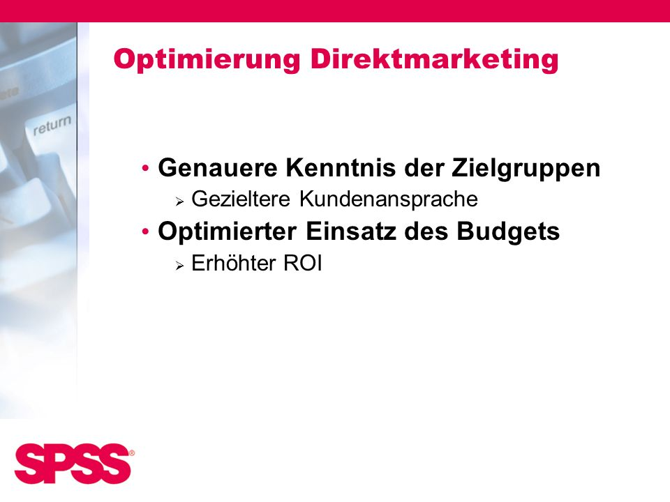 Optimierung Direktmarketing