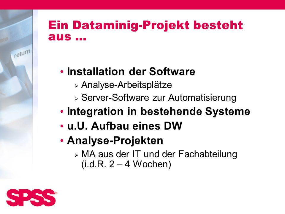 Ein Dataminig-Projekt besteht aus ...