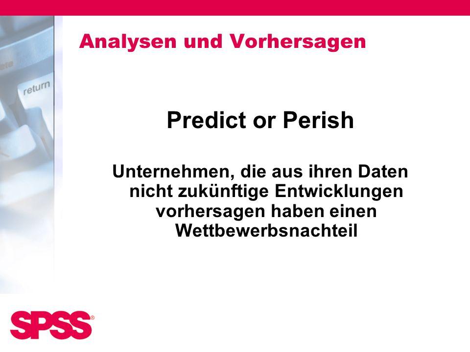 Analysen und Vorhersagen