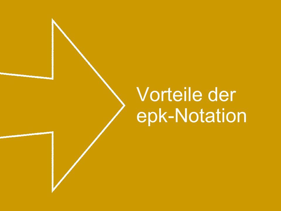 Vorteile der epk-Notation