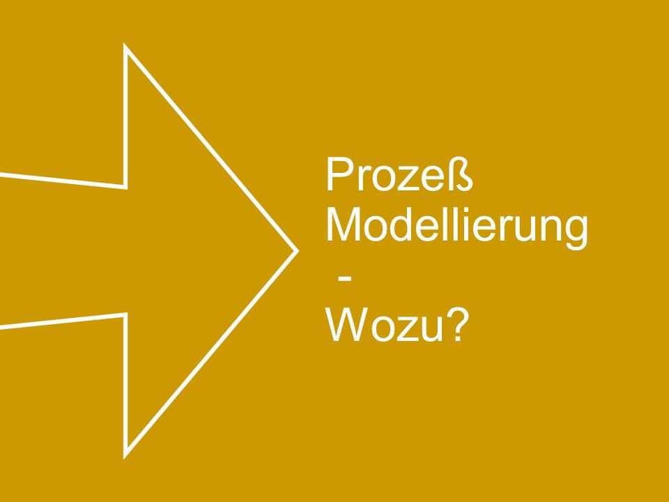 Prozeß Modellierung - Wozu