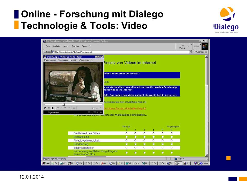 Online - Forschung mit Dialego Technologie & Tools: Video