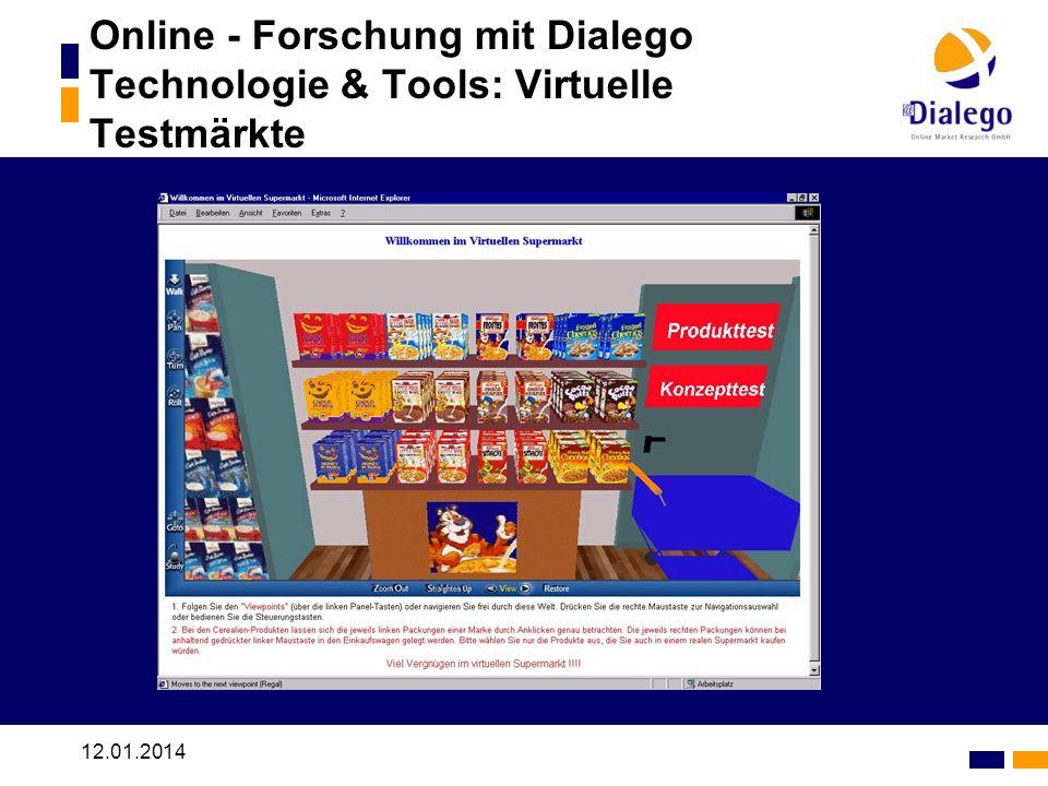 Online - Forschung mit Dialego Technologie & Tools: Virtuelle Testmärkte