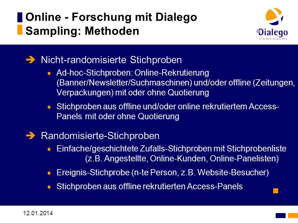 Online - Forschung mit Dialego Sampling: Methoden