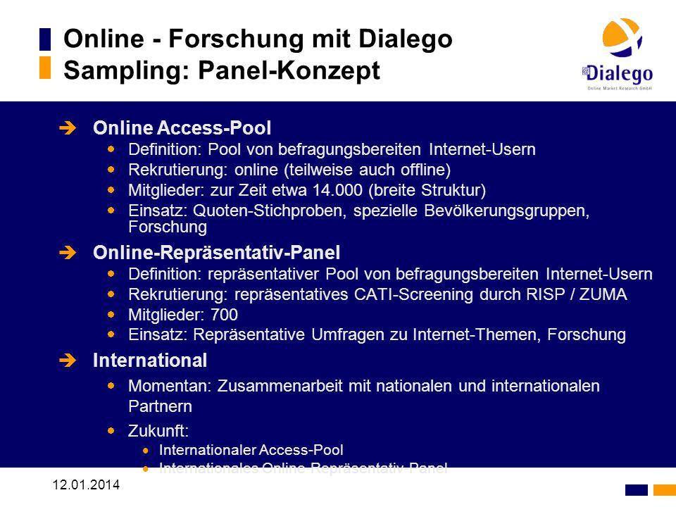 Online - Forschung mit Dialego Sampling: Panel-Konzept