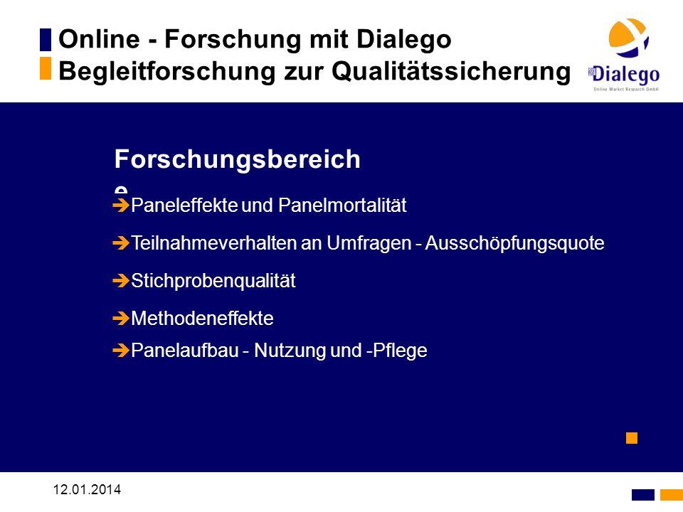 Online - Forschung mit Dialego Begleitforschung zur Qualitätssicherung