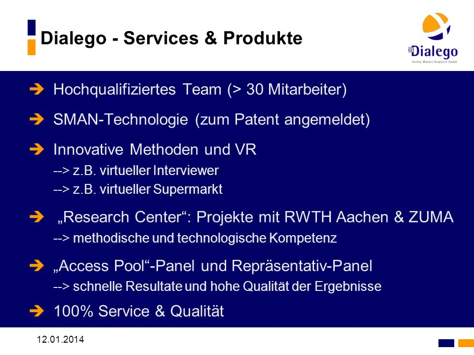 Dialego - Services & Produkte