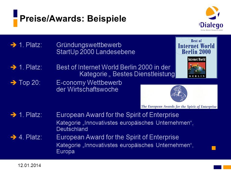 Preise/Awards: Beispiele