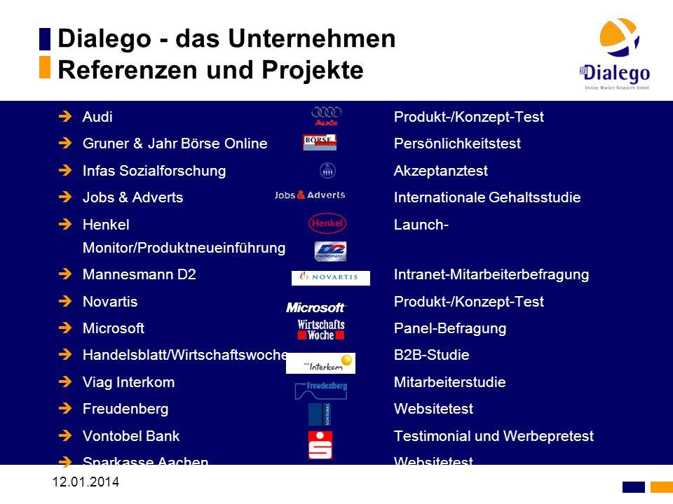 Dialego - das Unternehmen Referenzen und Projekte