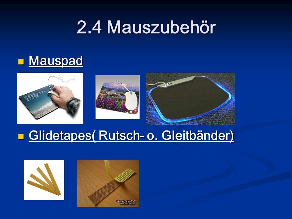 2.4 Mauszubehör Mauspad Glidetapes( Rutsch- o. Gleitbänder)